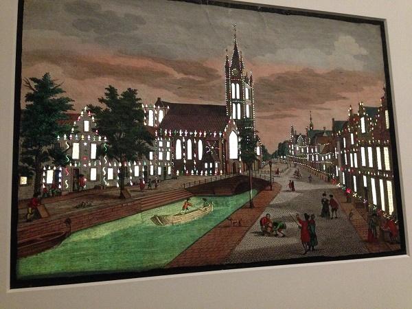 Illuminated painting at Rijksmuseum