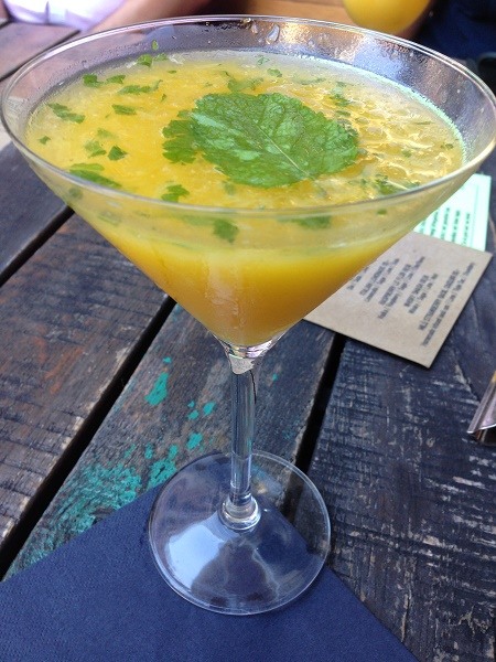 First drink - a spicy mango martini, chosen in honor of Marco, who loves mango stuff ;)