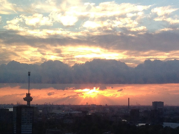 sunset-and-euromast-from-nhow-rotterdam