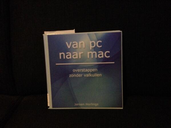 """""""Van PC naar Mac"""" library book"""