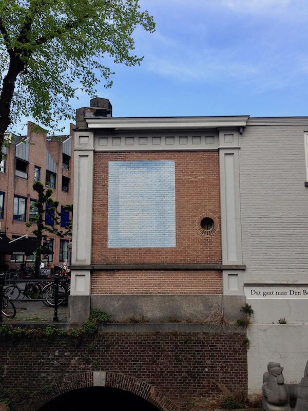 'Een man dacht' poem in Den Bosch