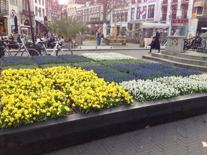 Flower bank in The Hague at De Plaats