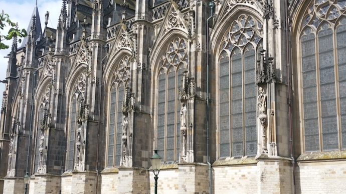 Saint John's cathedral in Den Bosch - close up