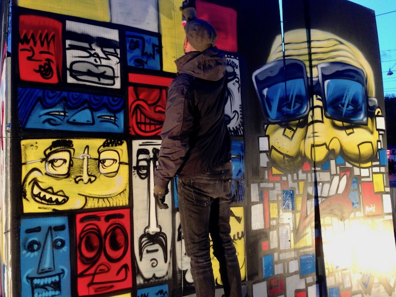 Street art at The Life I Live festival 2017, The Hague