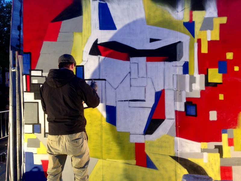 Transformers street art at The Life I Live festival 2017, The Hague