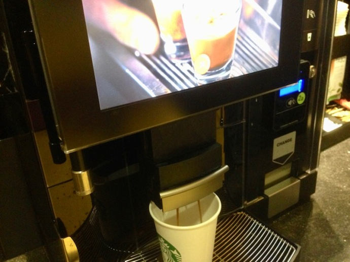 Self-serve Starbucks at Pathe Spui, The Hague