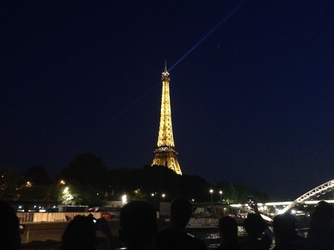Eiffel tower at night, June 2017