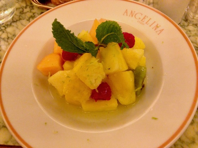 Fruit salad at Angelina's in Paris