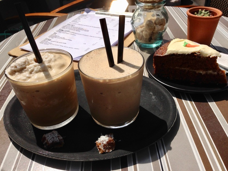 Iced coffee at Hometown coffee The Hague