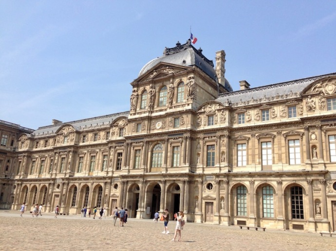 Louvre palace in Paris