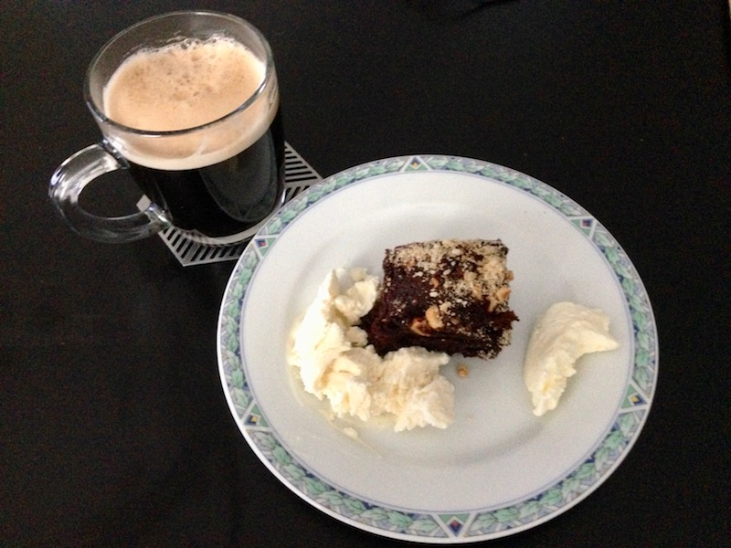 Ice cream, coffee and a brownie!