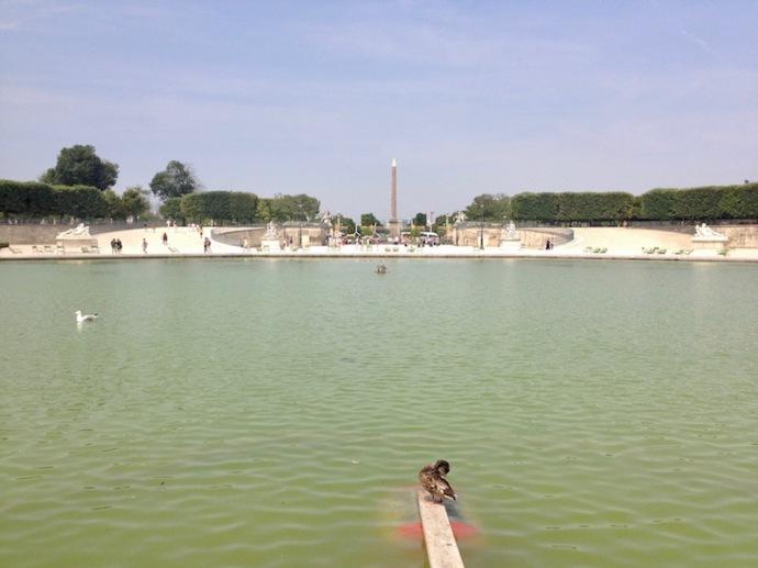 Place de la Concorde from a distance, Egyptian obelisk