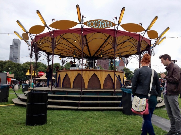 Aquarius drinking station, Rrrollend food festival in The Hague