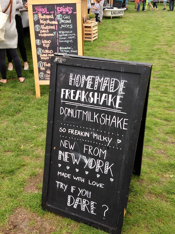 Sign at Rrrollend food festival in The Hague