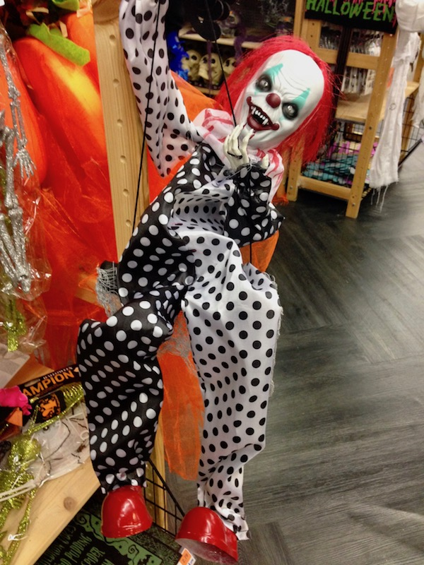 Clown Halloween decoration at SoLow, The Hague