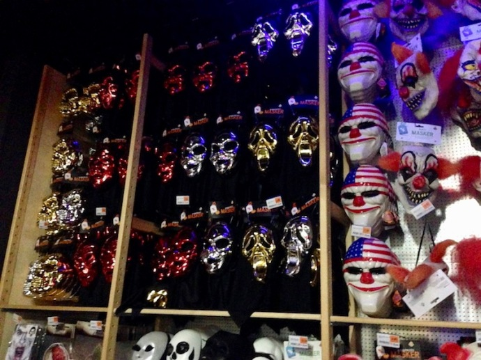 Halloween masks at SoLow, The Hague