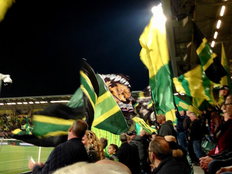 More flag waving before ADO Den Haag football game