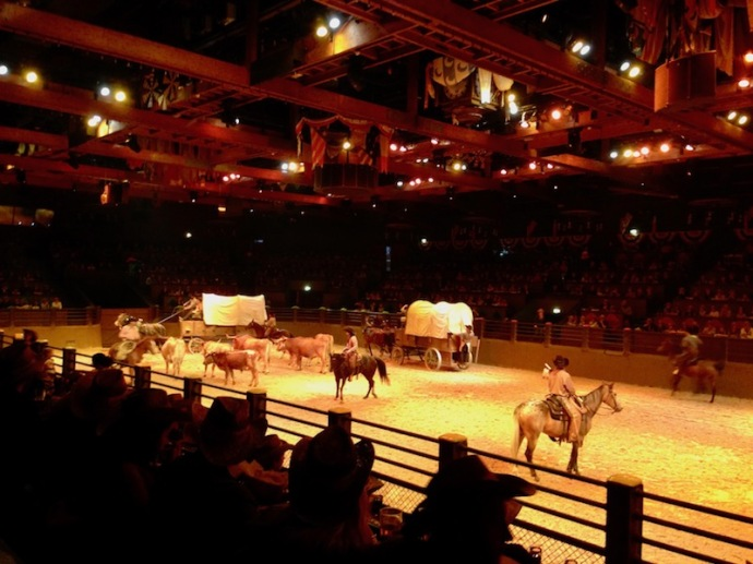 Buffalo Bill's Wild West show in Disneyland Paris