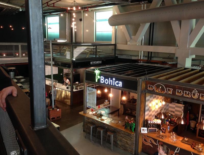 Food stands at MingleMush, The Hague