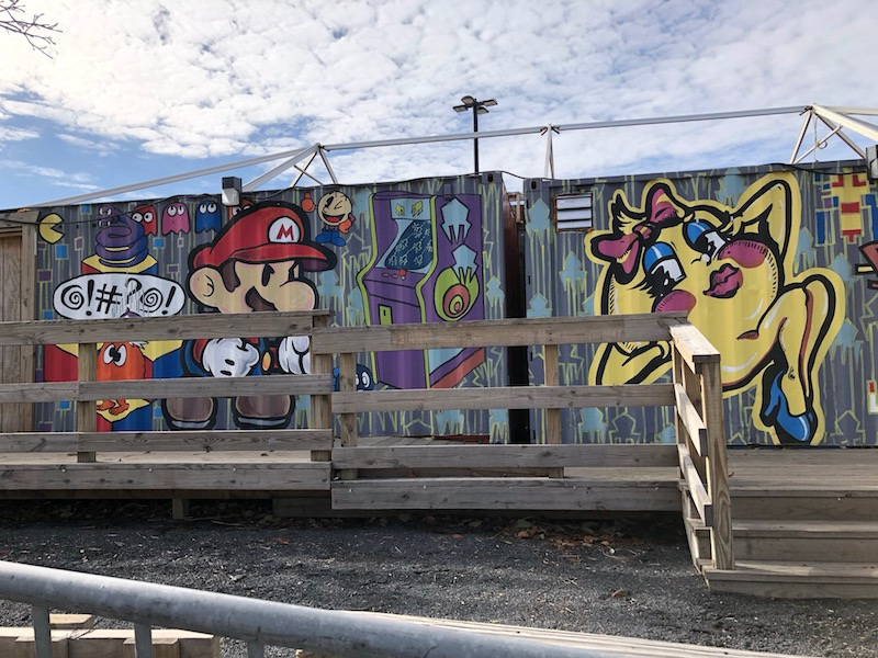 Graffiti at Penns Landing in Philadelphia