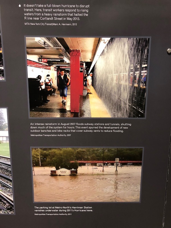 NY Transit museum in Brooklyn - photos from intense rainstorm