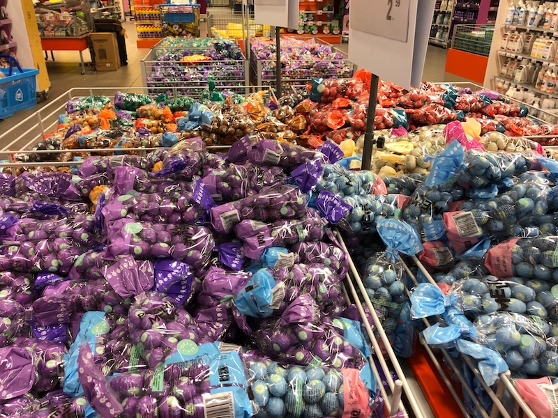 Chocolate easter eggs for sale at Albert Heijn XL, The Hague