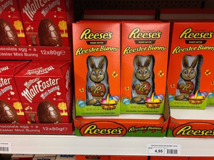 Reese's chocolate bunny (Or Reester bunny)