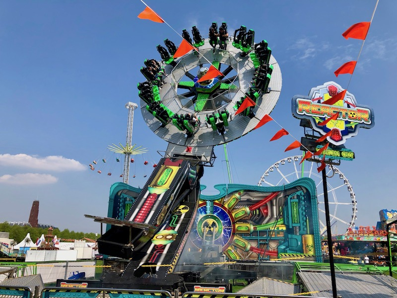 Carnival ride at Maliveld, The Hague, for King's Day 2