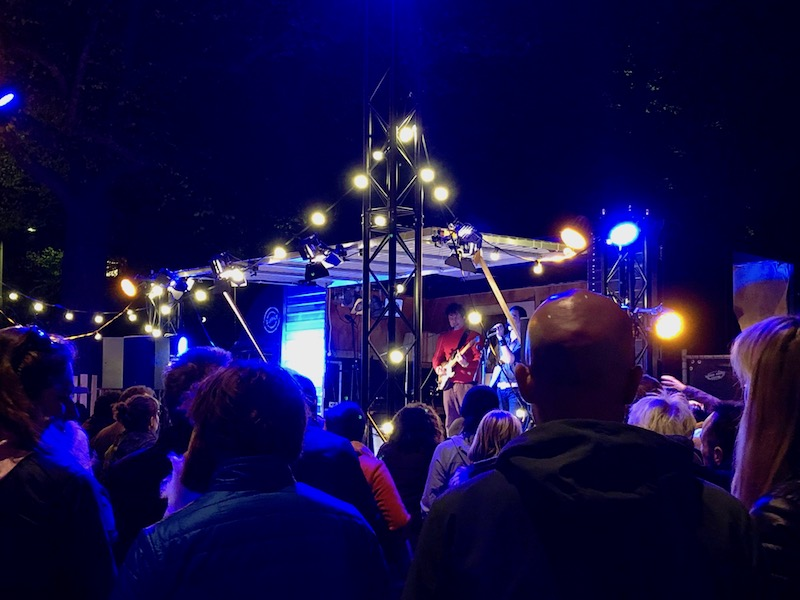 Stage at the King's Night party in The Hague