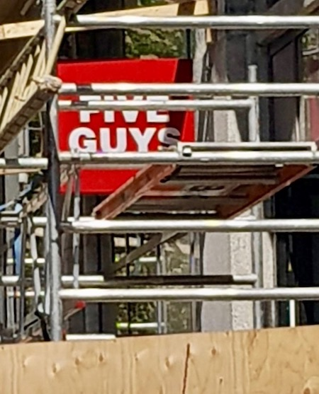 Five Guys construction site in The Hague 2