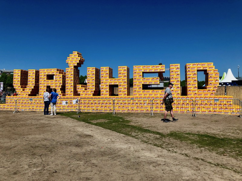 Vrijheid display at the Bevrijdingsfestival in The Hague, 2018
