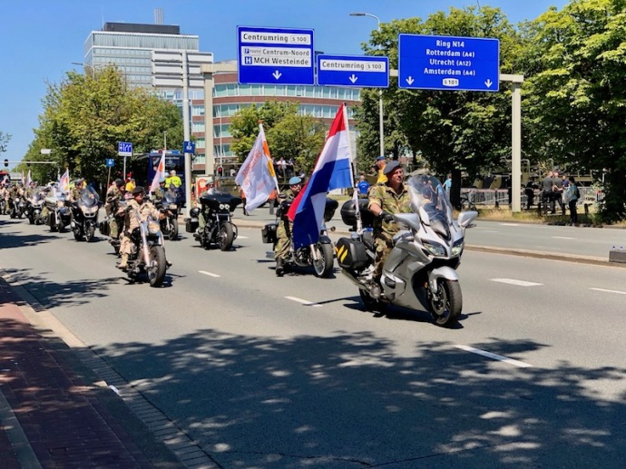 Veterans Day 2018 in The Hague - motorcycles
