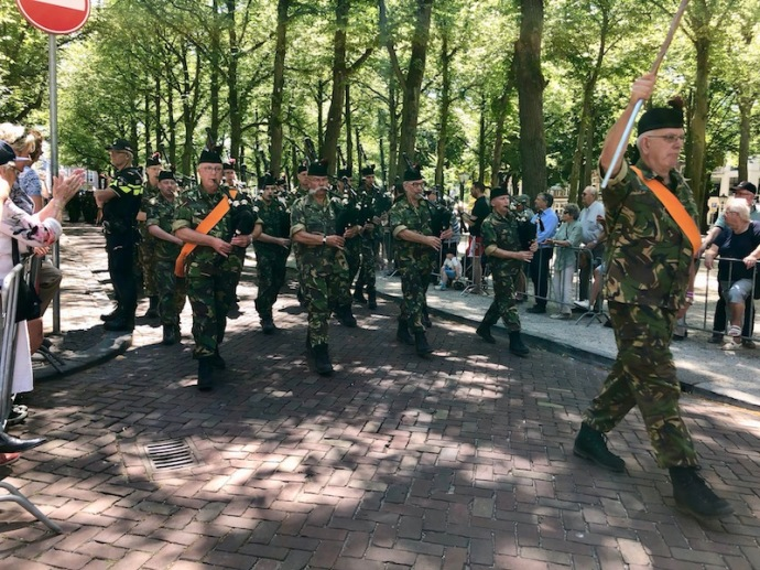 Veterans Day 2018 in The Hague - soldiers