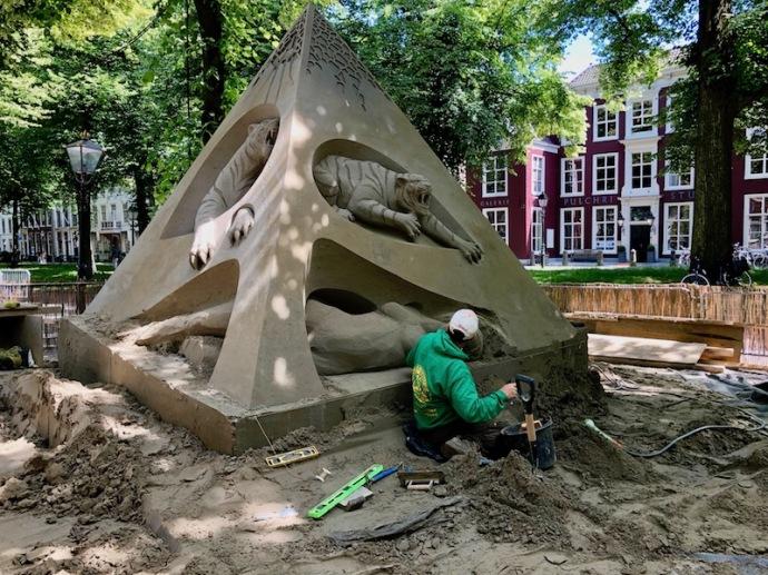 World sand sculpting championship 2018 - tigers