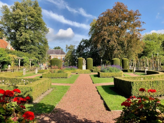 French garden at Castle Bouvigne in Breda, Sept 2018