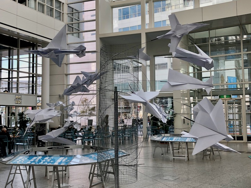 Paper planes exhibit at The Hague's city hall, October 2018 (2)
