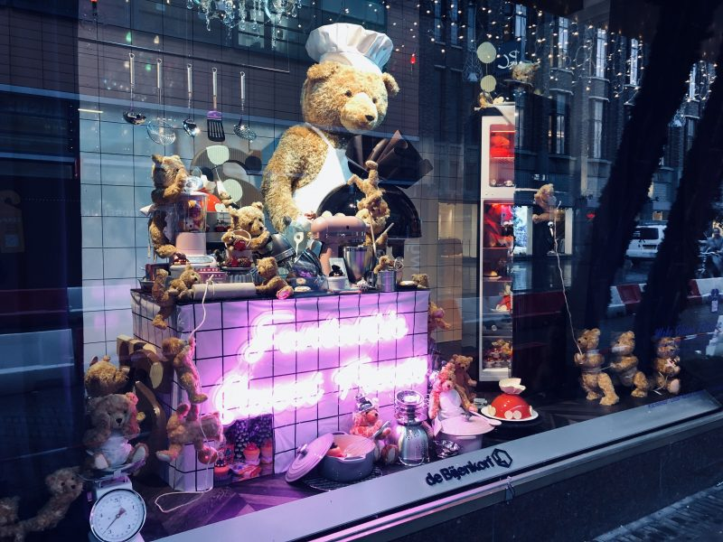 Bijenkorf Christmas window display, The Hague, 2018